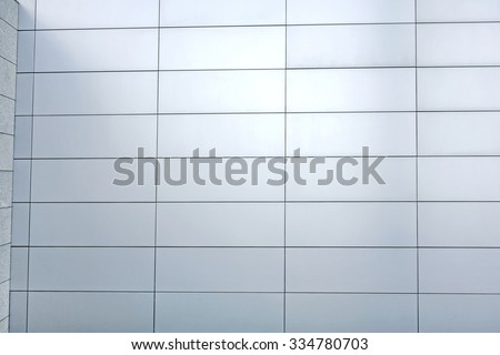 modern wall tile background - silver, blue, grey - stock photo