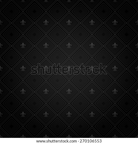 Modern Wallpaper Pattern. Background for Your design. Dark cover. Ornate image texture. Old style. Damask. For design of cards, invitations, book, web design, wallpapers for walls. Black Color - stock photo