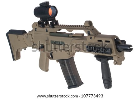 Modern weapon. German army assault rifle G36. - stock photo