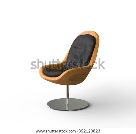 Modern Wooden Armchair - stock photo
