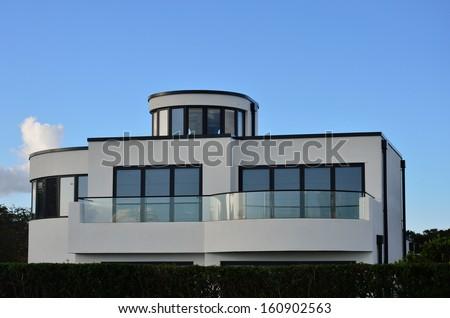 Modernist villa - stock photo