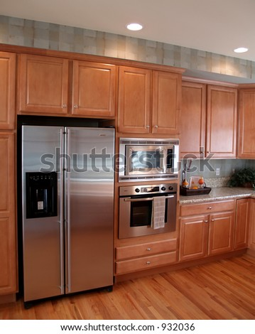 Modle kitchen - stock photo