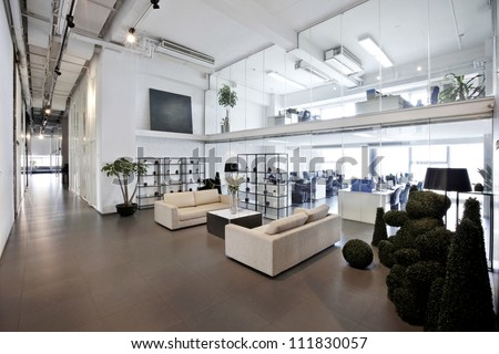 modren office - stock photo