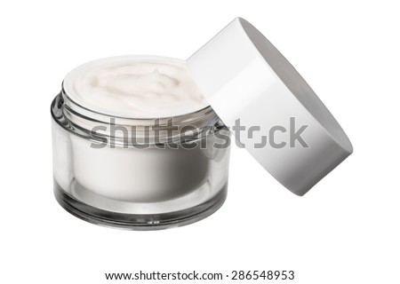 Moisturizer, Cosmetics, Jar. - stock photo