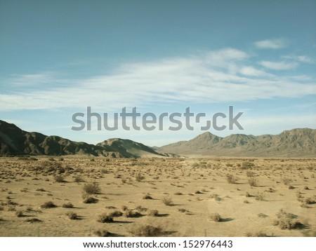 Mojave Desert Landscape - stock photo