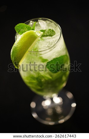 Mojito cocktail closeup - stock photo