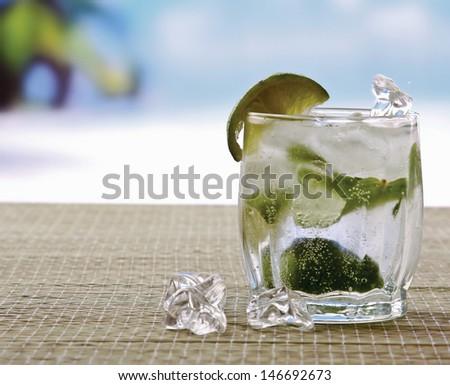 Mojito cocktail drink - stock photo