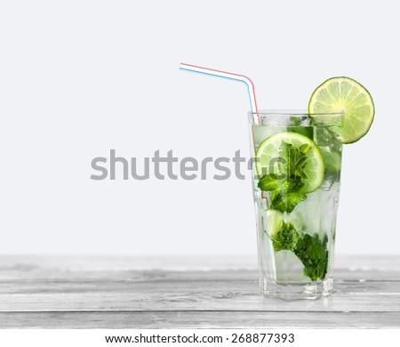Mojito, Drink, Cocktail. - stock photo