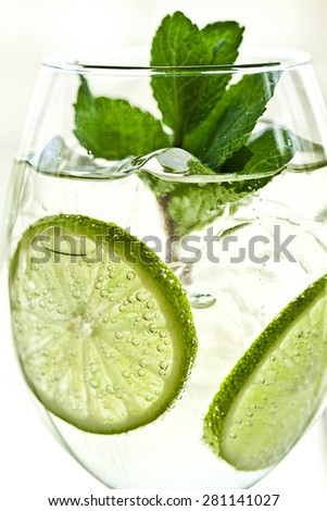 Mojito drink. summer cocktail - stock photo