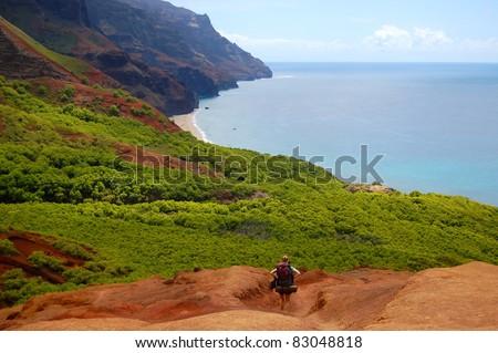 Mokulua Island Lanikai Oahu Hawaii - stock photo