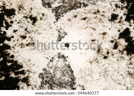 Mold fungi on plastic filled with water . - stock photo