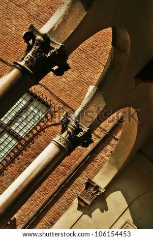 molding art, Ferrara, Italy, Renaissance - stock photo