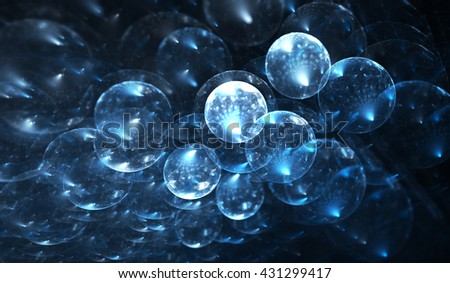 Molecular structure, atoms. Molecules elements on the subject of science, education, biology, chemistry and technology - stock photo