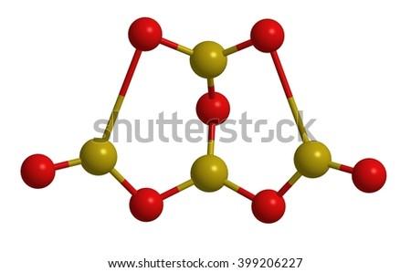 Molecular structure of borax (sodium borate) - borone compound, 3D rendering - stock photo