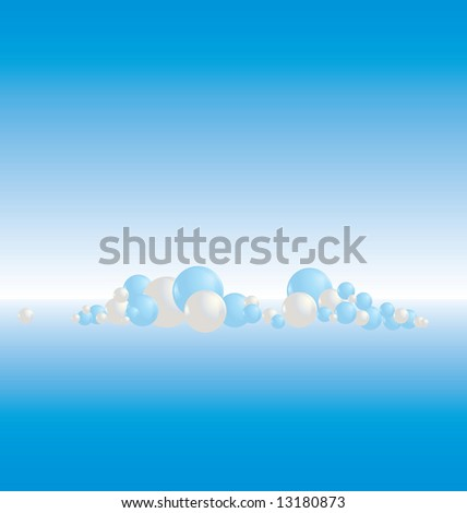 molecule at horizon background illustration with copy space - rasterized version of vector image 13170490. - stock photo