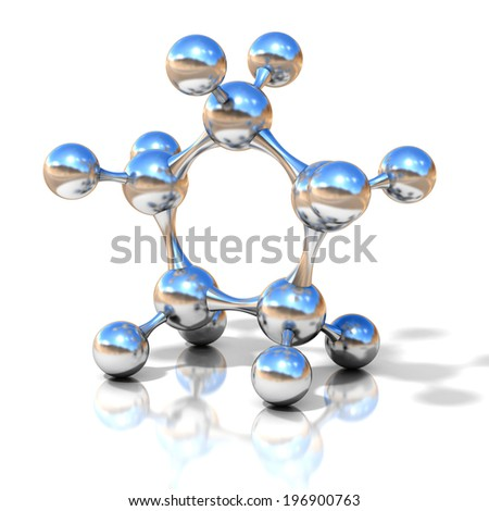 molecule 3d illustration  - stock photo