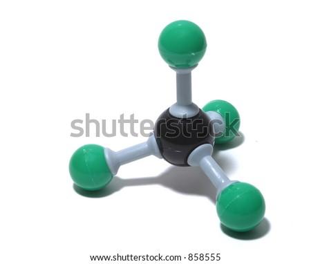 Molecule Model - stock photo