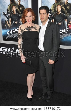"""Molly Ringwald & Panio Gianopoulos at the Los Angeles premiere of """"G.I. Joe: Retaliation"""" at the Chinese Theatre, Hollywood. March 28, 2013  Los Angeles, CA Picture: Paul Smith - stock photo"""