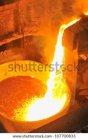 molten hot steel - stock photo