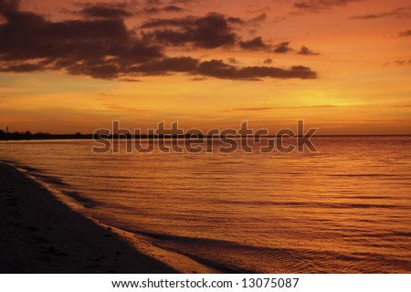 Molten Tropical Sunset - stock photo