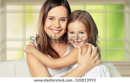 Mom and child. - stock photo