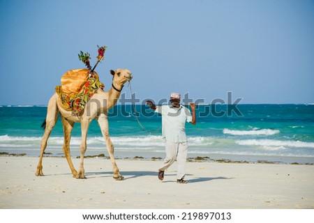 Mombasa. kenya. January 3, 2012. beach traders and artisans - stock photo