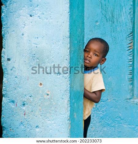 Mombasa. Kenya. January 26, 2012  unidentified children of Africa - stock photo