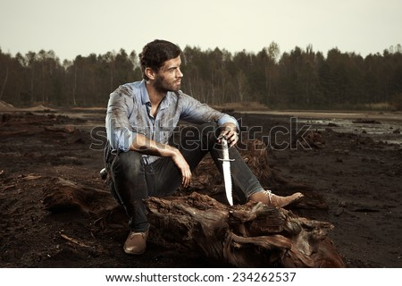 Moment of peace after fight - stock photo
