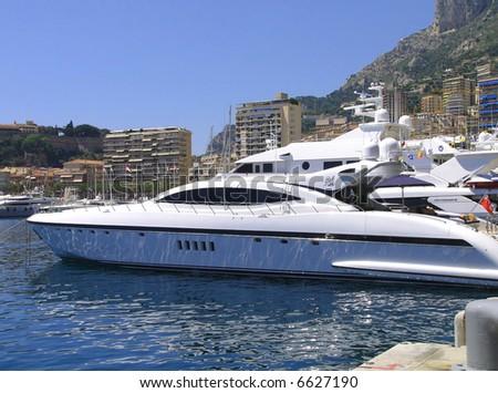 Monaco harbor - stock photo