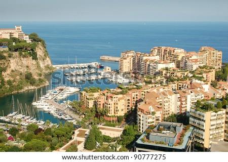 Monaco harbor view. Monte Carlo. - stock photo