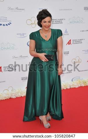 MONACO - MAY 23, 2012: Caro Emerald  at the inaugural Nights in Monaco Gala at the Hotel de Paris, Monte Carlo. May 23, 2012  Monaco - stock photo