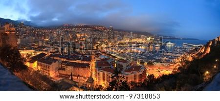 Monaco night - stock photo