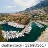 Monaco port de fontvielle - stock photo