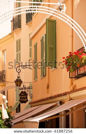 Monaco streets and houses - stock photo