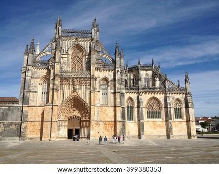 Monastery in Batalha, Portugal - stock photo