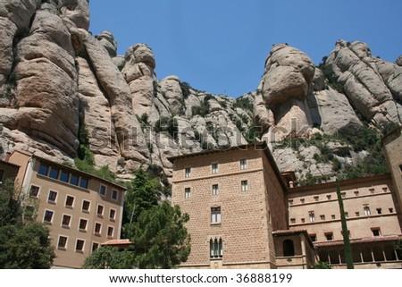 Monastery in Montserrat, Spain - stock photo