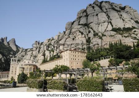 Monastery Montserrat, Barcelona, Spain - stock photo