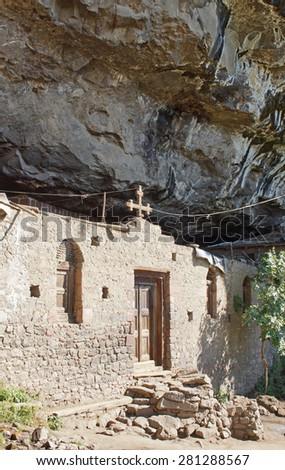 Monastery Neakuto Laab, Lalibela, Ethiopia, Africa - stock photo