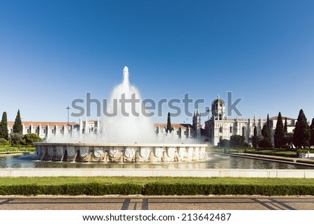 Monastery of Jeronimos - stock photo