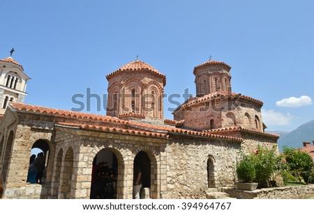Monastery St. Naum Ohridski in Ohrid, Macedonia - stock photo