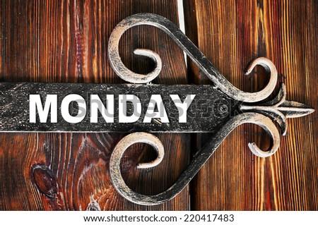 Monday - stock photo
