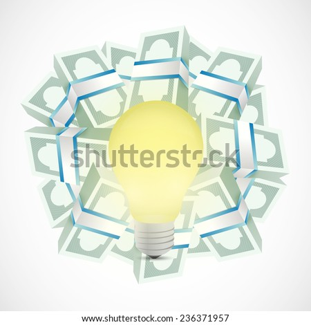 monetary ideas concept illustration design over a white background - stock photo