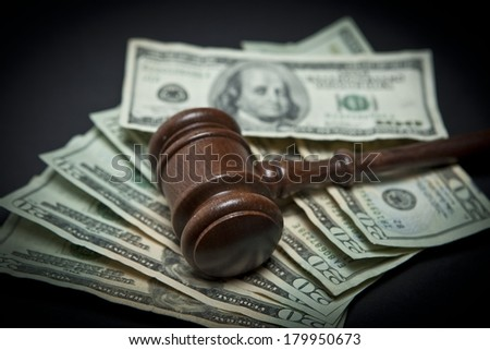 Money and Gavel - stock photo