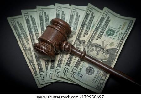 Money and Gavel - stock photo