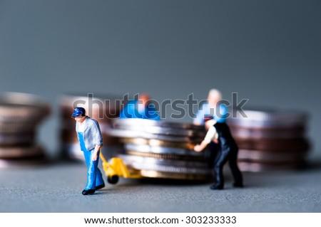 Money and human - stock photo