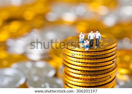 Money and students - stock photo