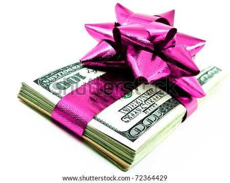 money as a gift - stock photo