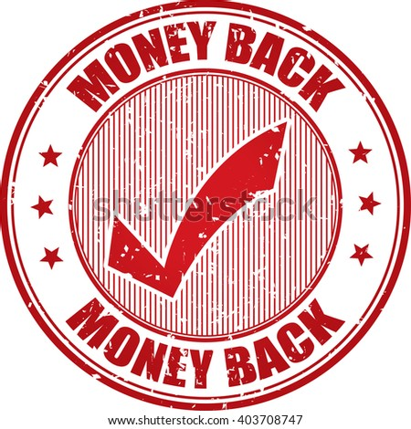 Money back grunge stamp. - stock photo
