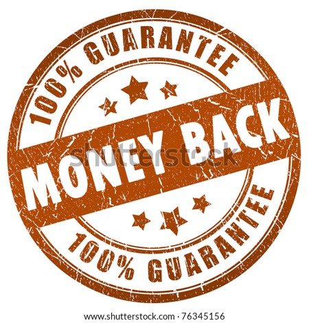 Money back grunge stamp - stock photo