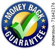 Money Back Guarantee Button/Label - stock photo